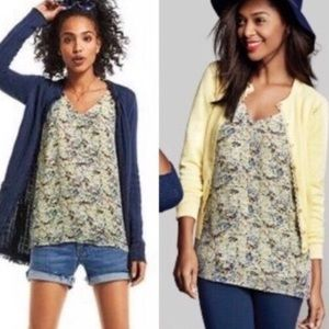 CAbi Yellow Scatter Floral Tank Top
